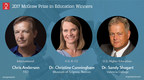Three Innovators in Education Named Winners of The Harold W. McGraw, Jr. Prize in Education