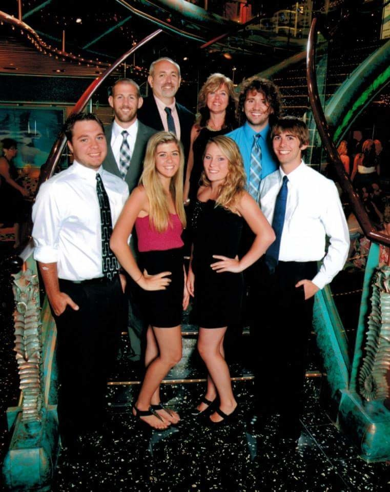 The Morris Family - Front (LR): Scott, Elise, Casey, Hunter, Back (LR): Ashton, Tim, Joni, Zach - North Carolina Press Release