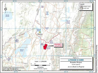 Location of the Pozuelos Property (CNW Group/LSC Lithium Corporation)
