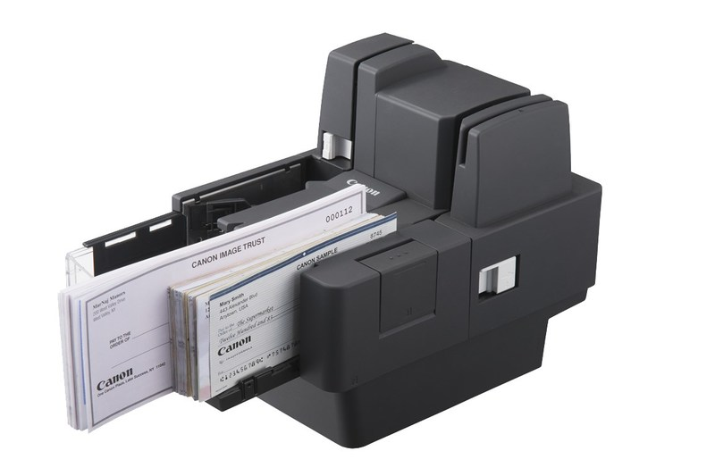 Canon imageFORMULA CR-120/CR-150 compact check transports.