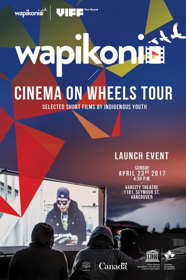 Launch of Wapikoni, Cinema on Wheel Tour (CNW Group/Wapikoni mobile)