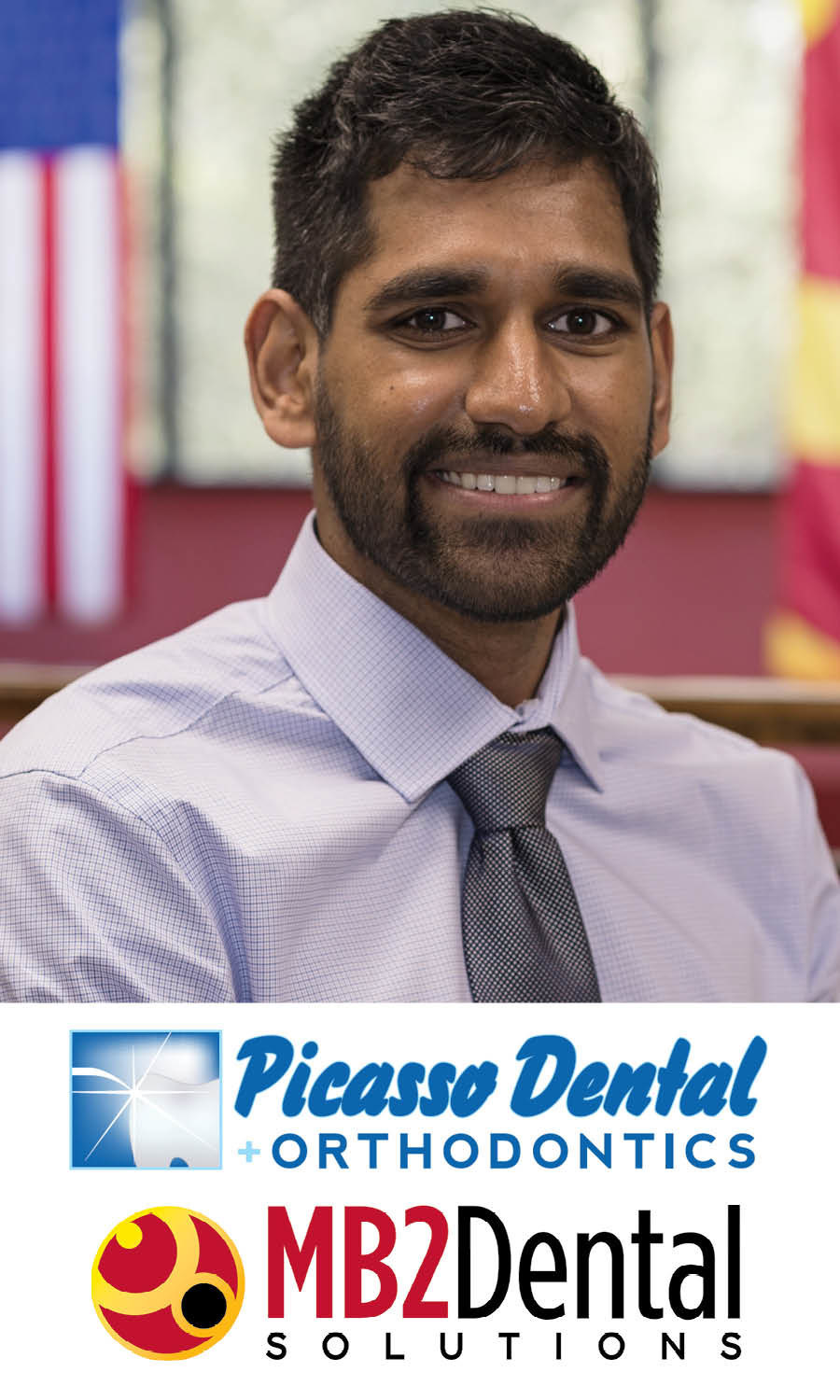 """""""Helping people through dental care is a big passion of mine,"""" said Dr. Rishank Korupolu, owner of the new Picasso Dental + Orthodontics in Seagoville."""