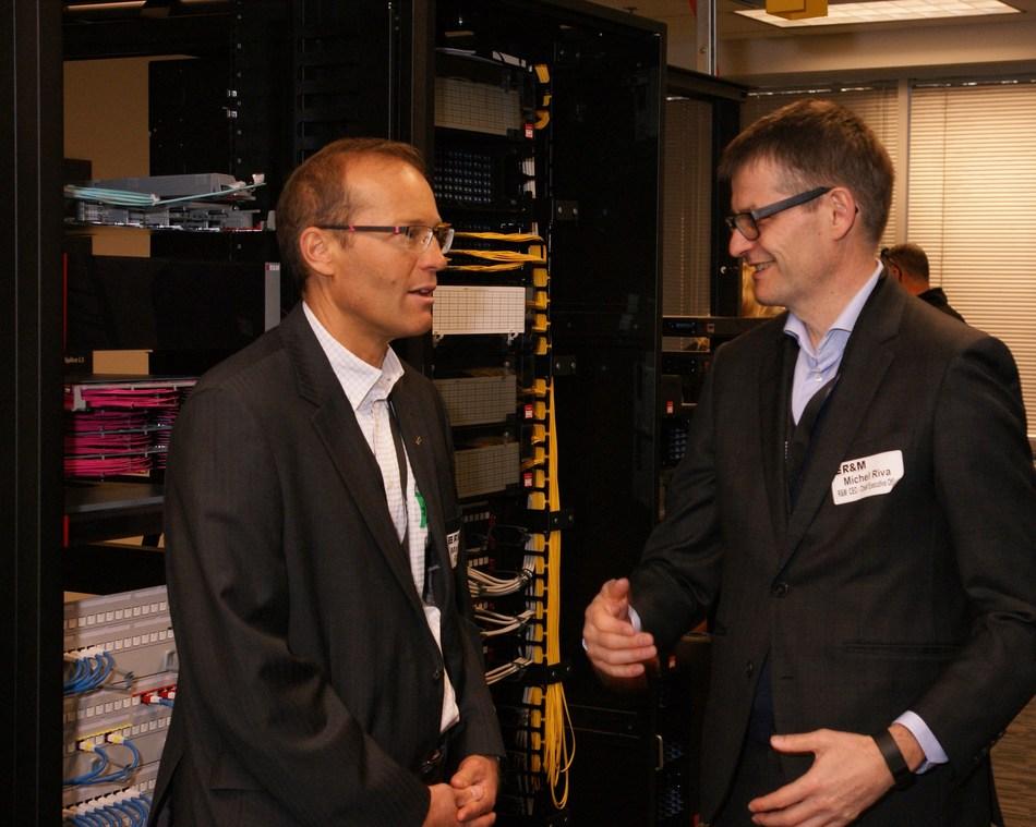 Left: Martin Reichle, Co-owner, R&M; Right: Michel Riva, CEO, R&M