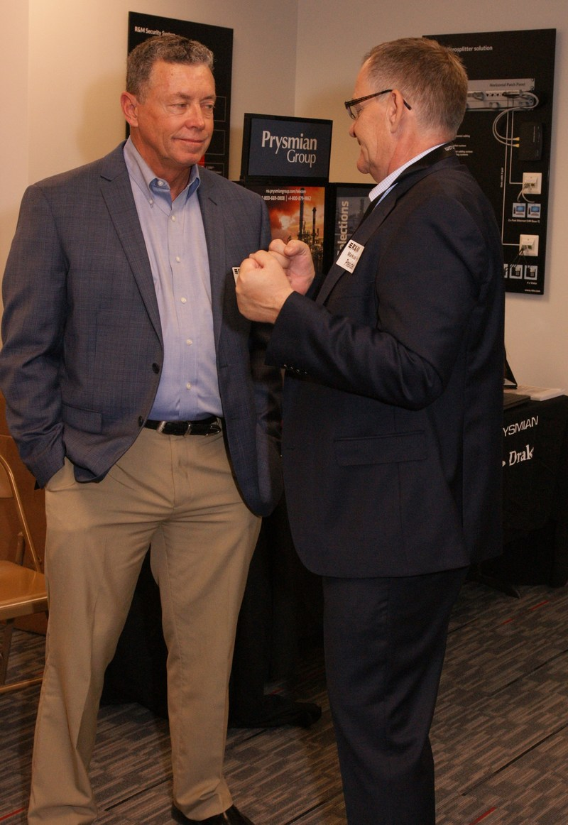 Left: Chris Isetts, National Sales Manager, Prysmian Group; Right: Markus Huber, President, R&M USA