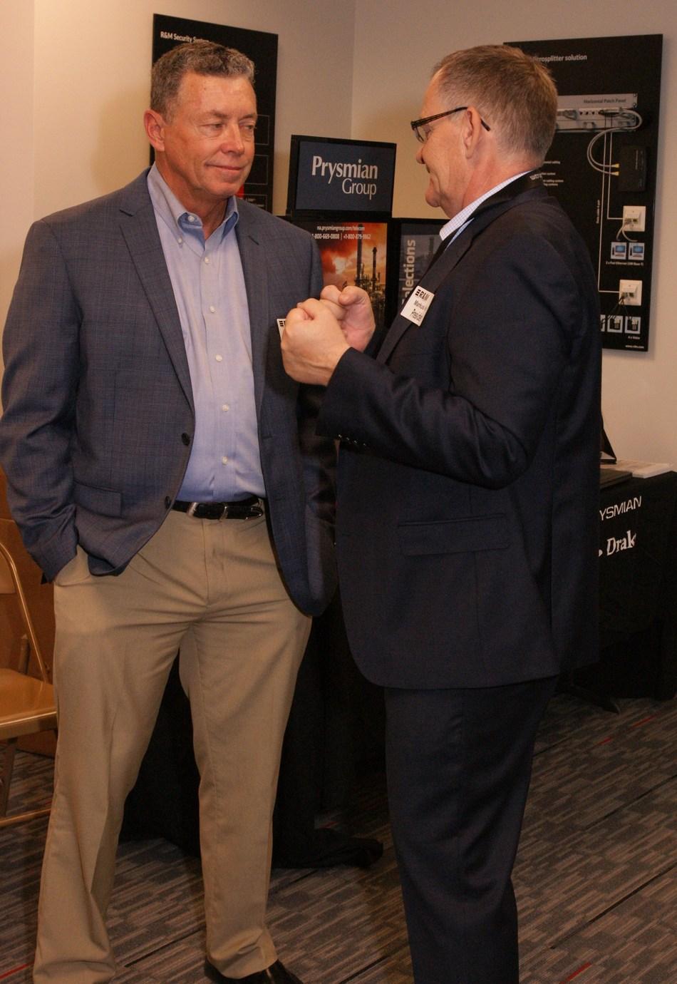 Left: Chris Isetts, National Sales Manager, Prysmian Group; Right: Markus Huber, President, R&M USA