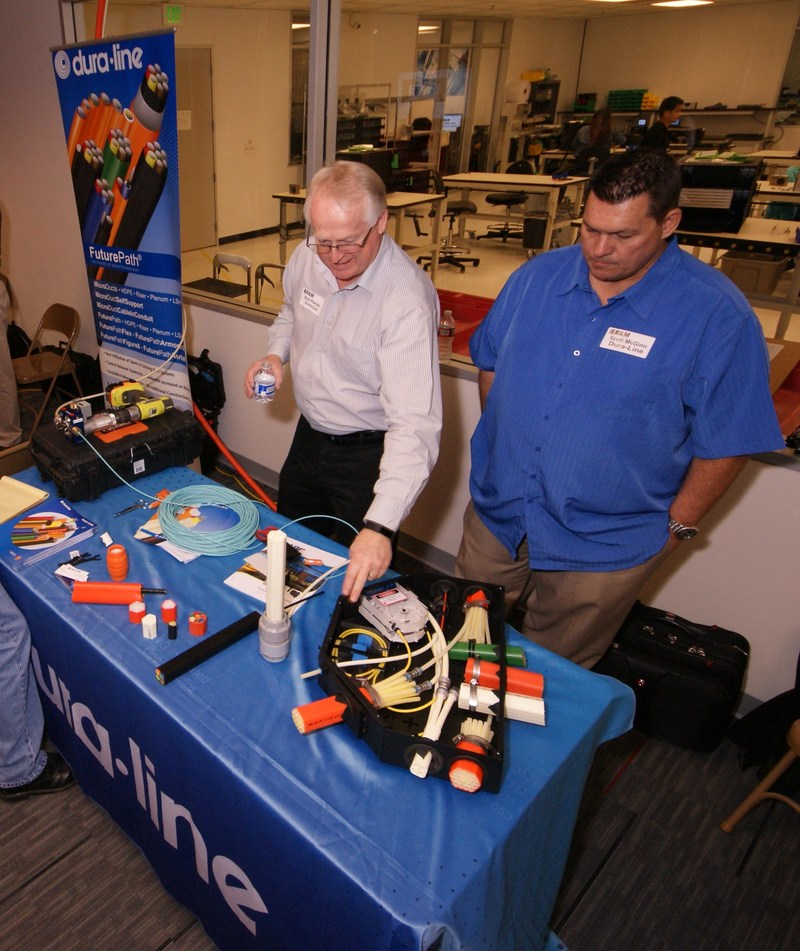 Left: Bob Parish, Regional Sales Manager, Dura-Line; Right: Scott McGinn, Senior Design Engineer, Dura-Line