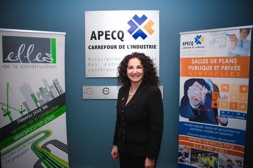 Madame Rose Fierimonte (CNW Group/Association patronale des entreprises en construction du Québec (APECQ))