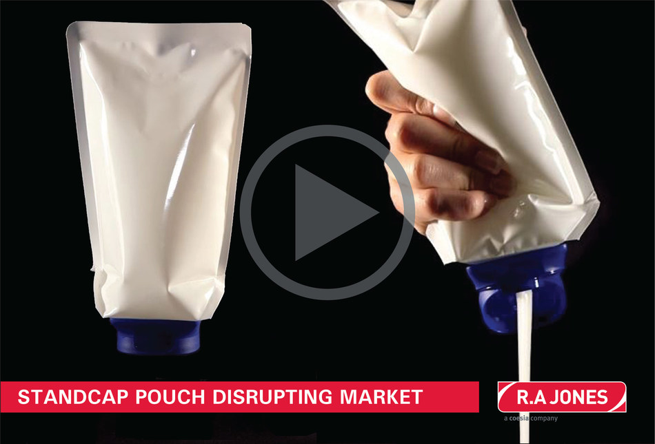 Watch the video of the Standcap Pouch and realize how this exclusive inverted pouch solution from VOLPAK can benefit manufacturers looking for distinctive and functional packaging to capture market share. Available in the US through R.A JONES.