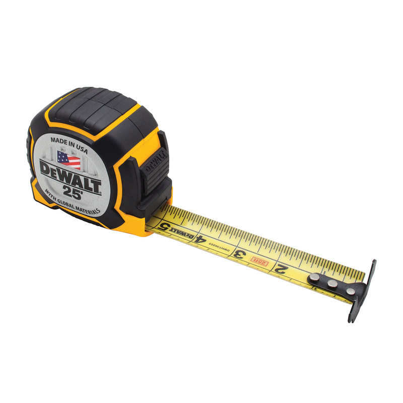 DEWALT Unveils its XP(TM) Tape Measure Engineered for Extended Performance. DEWALT, known for innovating and engineering tools to withstand the harshest job sites and extreme use, has introduced the DEWALT(R) XP(TM) Tape Measure, DEWALT's toughest tape measure yet featuring a tougher case, tougher blade coating, and tougher hook connection. The new 25' XP(TM) Tape Measure (DWHT36225) is made in the USA with global materials and available in Canada beginning in May 2017 and the U.S. in July 2017 where DEWALT(R) products are sold.