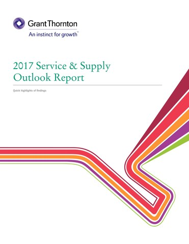 "Grant Thornton LLP and JWN released its annual Service & Supply Outlook Report, entitled ""Delivering Change – Aligning with a new normal"", reflecting on insight from over 350 representatives of the oil and gas service & supply industry. (CNW Group/Grant Thornton LLP)"