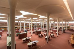 The Great Workroom with dendriform columns.