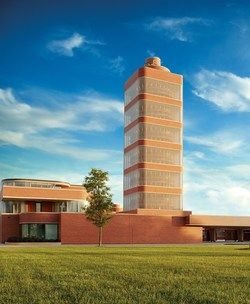 SC Johnson Frank Lloyd Wright-designed Administration Building and Research Tower.
