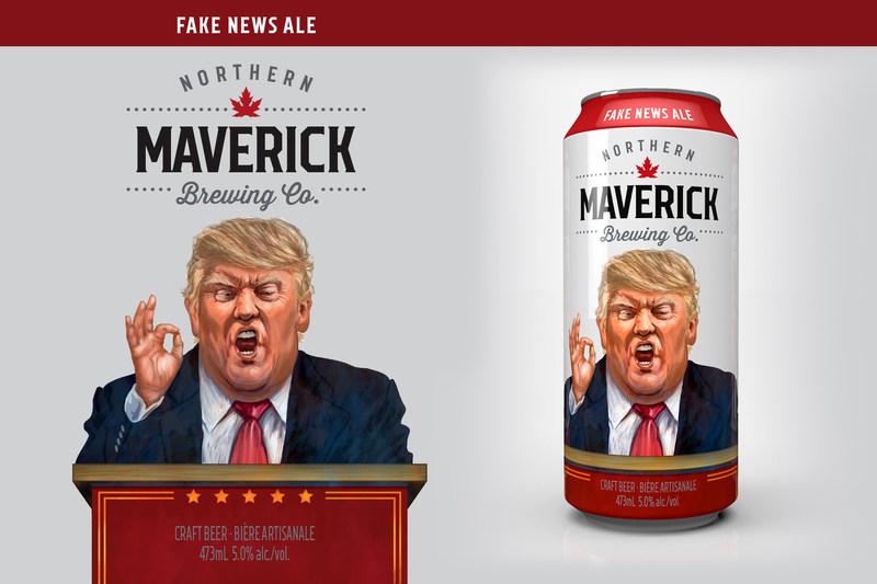 "Toronto craft brewer, Northern Maverick, launches ""Fake News Ale"" (CNW Group/Northern Maverick)"