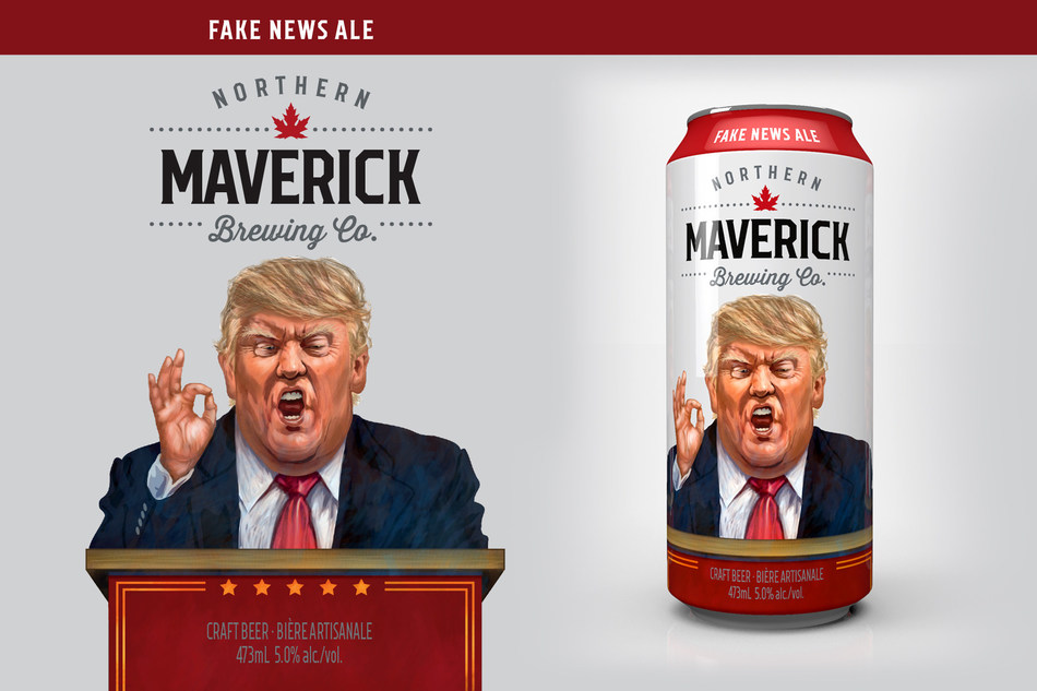 "Toronto craft brewer, Northern Maverick, launches ""Fake News Ale"" (CNW Group/Northern Maverick)"