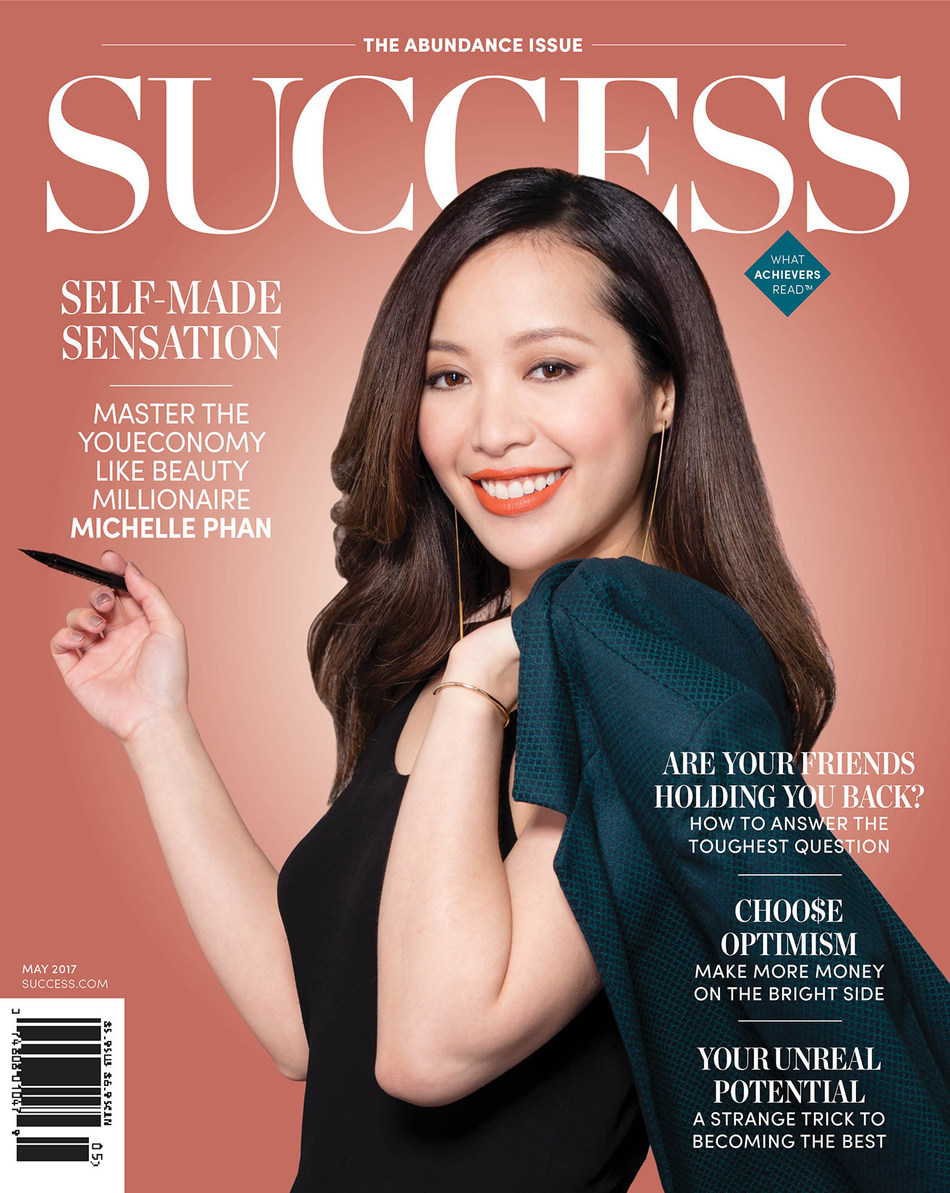In the May Issue of SUCCESS, Take a Look Inside the Life of Michelle Phan and Discover How She Turned One YouTube Makeup Tutorial Video Into a Multimillion-Dollar Beauty Empire