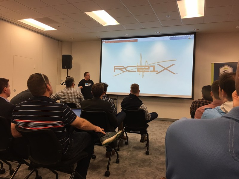 RC21X Chief Digital Officer Mark Cavicchia presents the company's brain performance monitoring solutions at a Stadia Ventures break out session.