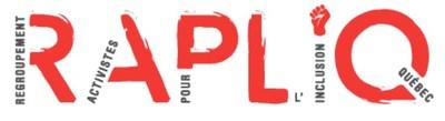 Logo : RAPLIQ (Groupe CNW/RAPLIQ (Regroupement des activistes pour l'inclusion au Québec))