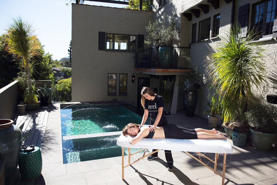 Zeel Massage On Demand® on site for five-star Coachella recovery