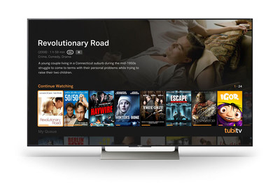 Tubi TV's Free Television and Movie App Added to Sony Smart TVs and Blu-ray Players