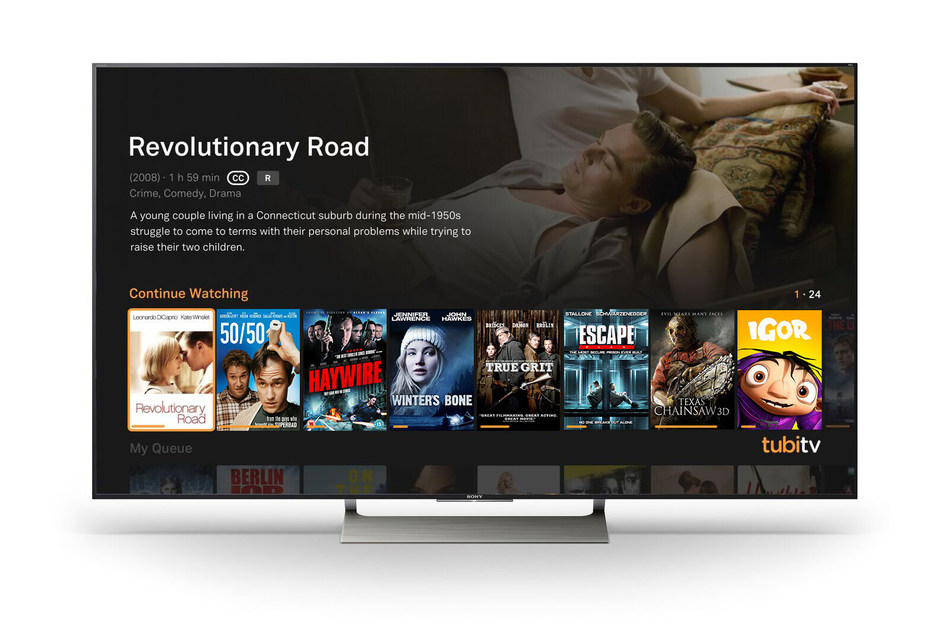 Tubi TV's Free Television and Movie App Added to Sony Smart TVs and Blu-ray™ Players -- Sony Customers Now Have Instant Access to World's Largest Free Streaming TV Library, Building on Tubi TV's Strong Momentum as Consumers Increasingly Move Toward Cable-Cutting