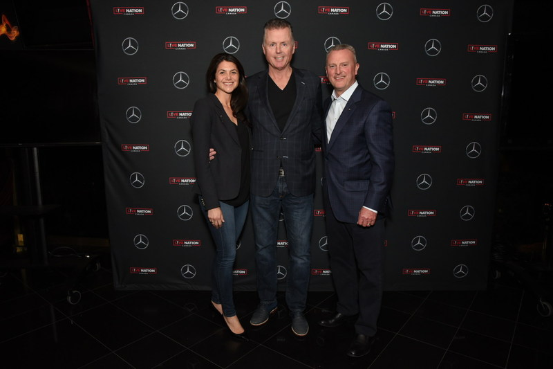 Mercedes-Benz Canada announced a multi-year partnership with live entertainment leader Live Nation Canada. The three-pointed star brand will be highly visible at Live Nation Canada events across the country, striking a chord with Canadians by celebrating the power of music and live performance. Mercedes-Benz Canada is also introducing a unique concierge service for customers called Mercedes-Benz Access. (L-R) Virginie Aubert, Vice President of Marketing, Mercedes-Benz Canada, John May, President, Media and Corporate Partnerships, Live Nation Canada, and Brian D. Fulton, President and CEO, Mercedes-Benz Canada. (CNW Group/Mercedes-Benz Canada Inc.)