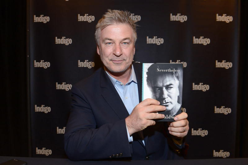 Alec Baldwin visits Indigo Bay & Bloor in Toronto on April 10th to sign copies of his new memoir Nevertheless. Photo credit: George Pimentel Photography. (CNW Group/Indigo Books & Music Inc.)