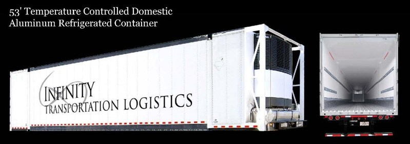 Infinity Transportation Logistics Domestic Refrigerated Intermodal Container
