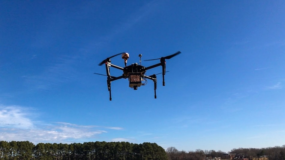 The Corning® microHSI™ 410-SHARK hyperspectral camera coupled with PrecisionHawk's platform for collection and analysis of drone data is capable of on-board processing which produces calibrated, geo-referenced hyper-cubes post flight.