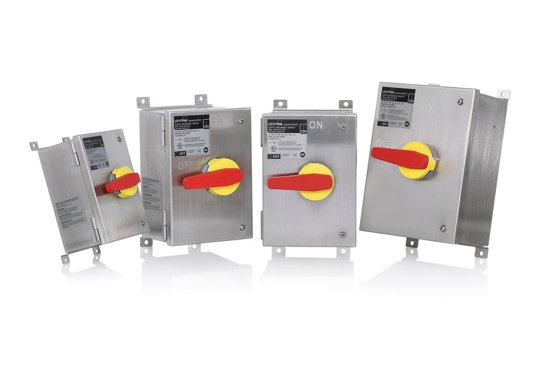 Leviton Launches Family of Stainless Steel Enclosed Disconnect Switches