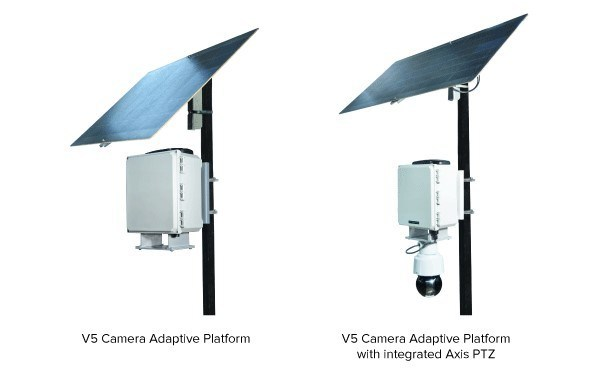 V5 Camera Adaptive Platform without and with Axis Camera.