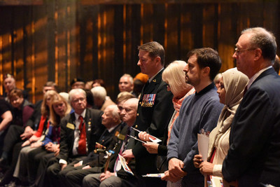 The Citizenship Ceremony took place in the Barney Danson Theatre at the Canadian War Museum. (CNW ...