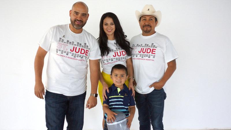 """El Bueno, La Mala, y El Feo with St. Jude patient Raul """"Kiki"""""""