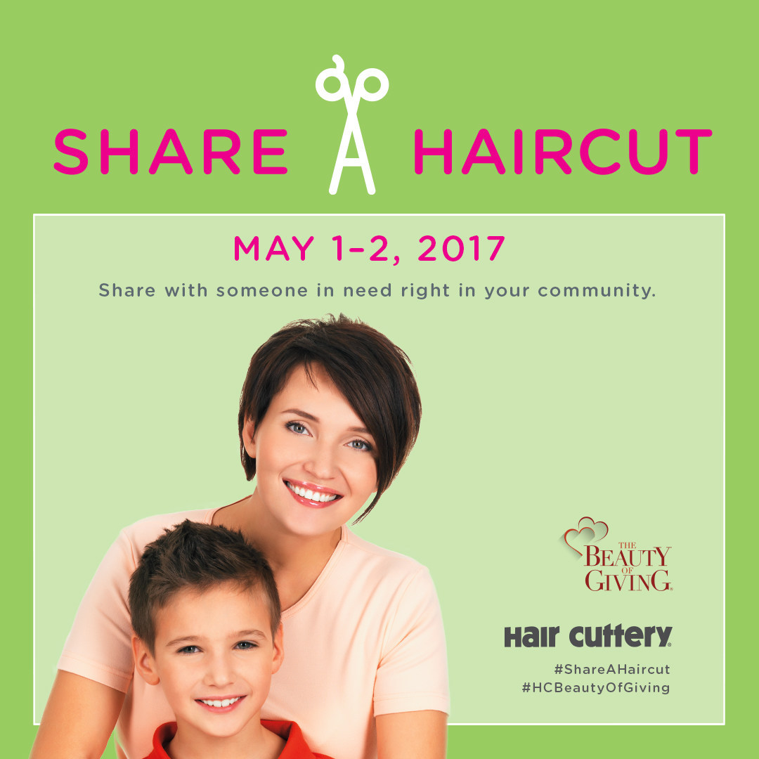 Hair Cuttery and the National Network to End Domestic Violence are teaming up to raise awareness about domestic violence through the Share-A-Haircut program on Monday, May 1 and Tuesday, May 2.