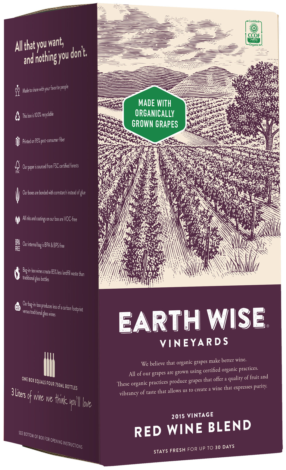 Earth Wise Red Wine Blend, organic wine from Spain by Delicato Family Vineyards