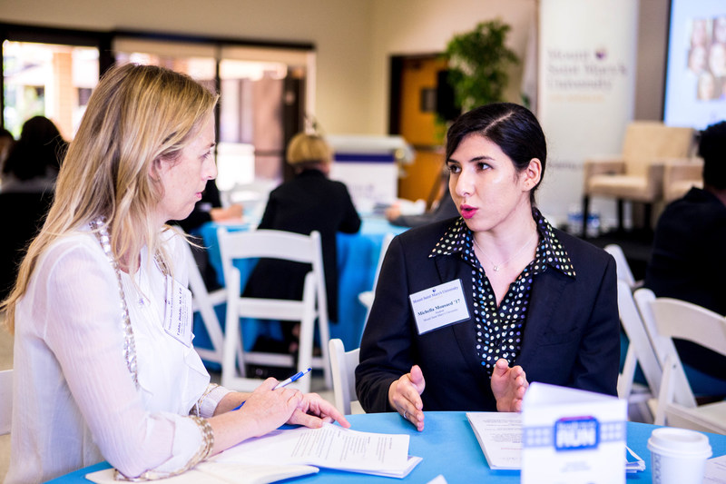 Ready to Run attendees discuss what it takes to run for elected office, during a workshop as part of this annual nonpartisan campaign training for women. Ready to Run is offered on the West Coast by Mount Saint Mary's University in Los Angeles.