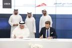 Dubai Roads and Transportation Authority Sign MoU with Uber during DFA's closing ceremony (PRNewsfoto/The Dubai Future Foundation (DFF)