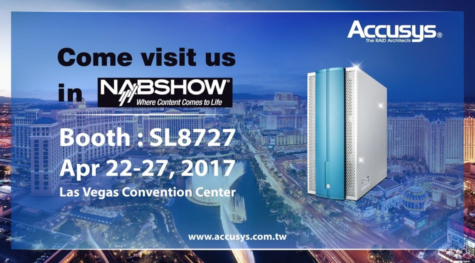 Accusys To Debut New Thunderbolt 3 and PCIe 3.0 Solutions at NAB 2017