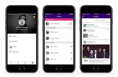 StubHub's new social suite lets you connect with Facebook friends.