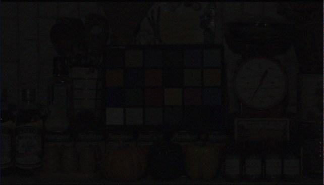 Visual image under 0.1 lux light condition (PRNewsfoto/Sony)