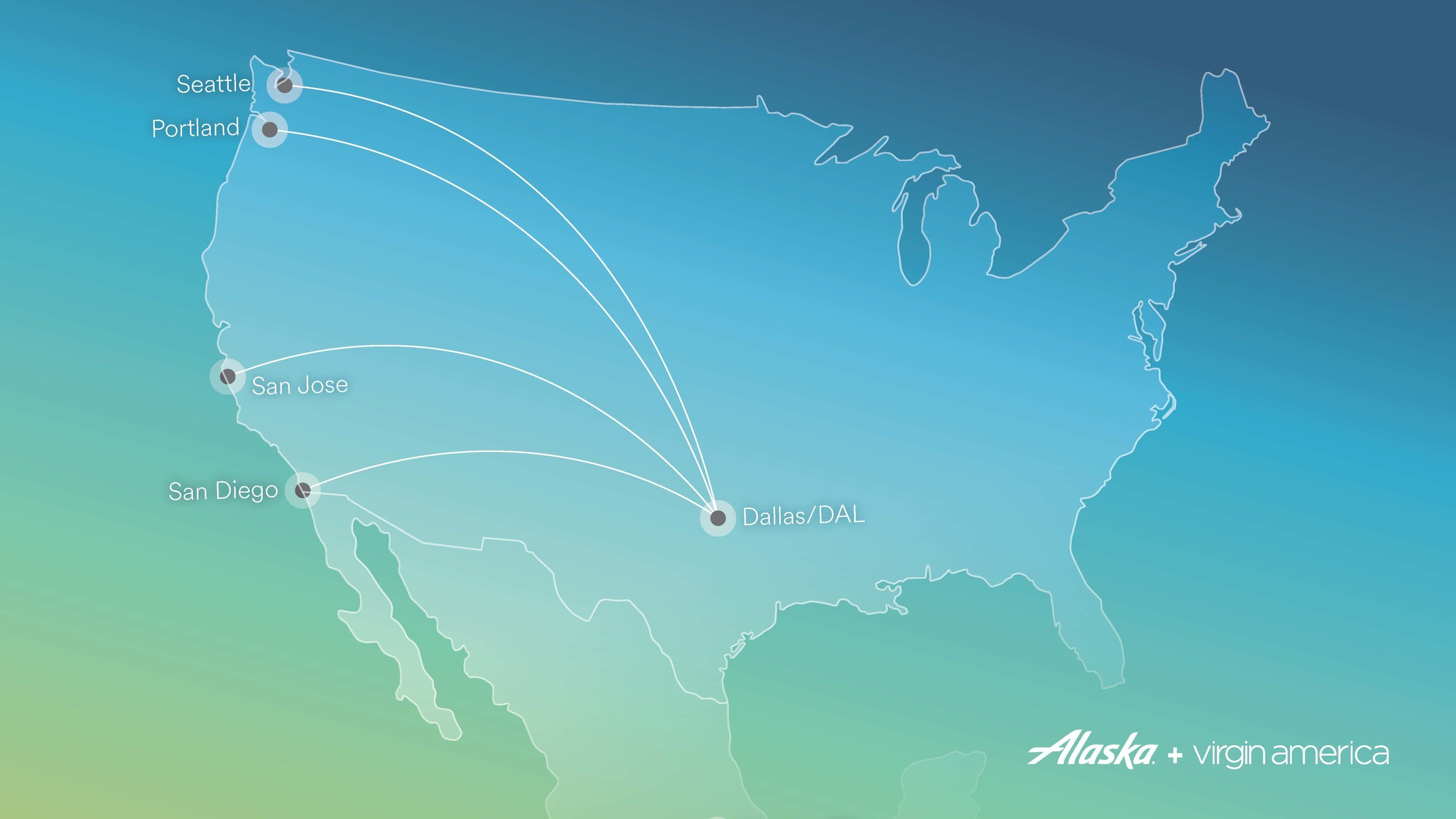 alaska airlines and virgin america announce new dallas love field