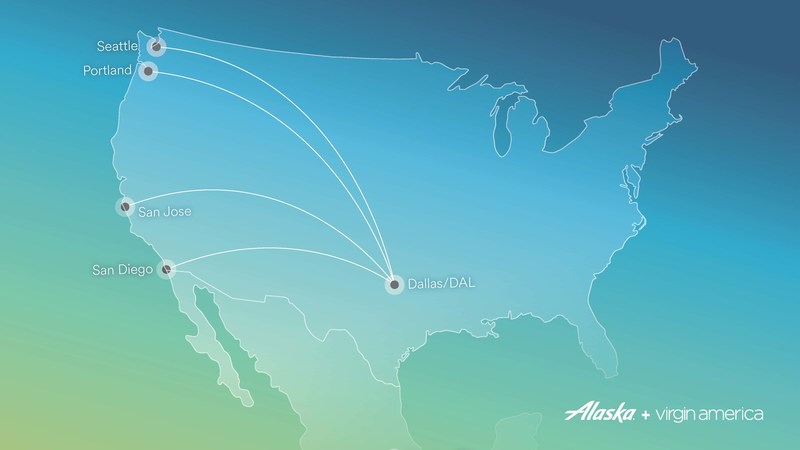 Alaska Airlines announces four new routes from Dallas Love Field