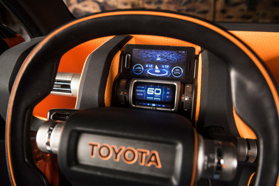 Drivers can utilize their mobile device and downloadable applications for navigation and off-road instrumentation.
