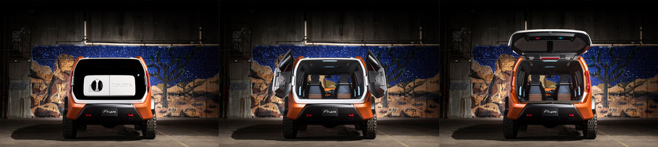 The innovative Multi-Hatch can be opened two ways via a rotatable handle; open it horizontally for Urban Mode and vertically for Outdoor Mode.