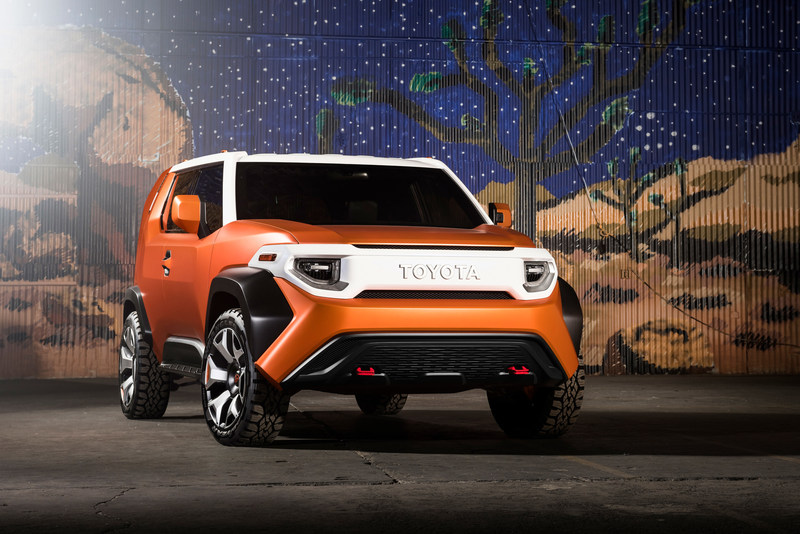 The FT-4X's front expression revisits the classic horizontal grille orientation of Toyota's adored off-road machines.