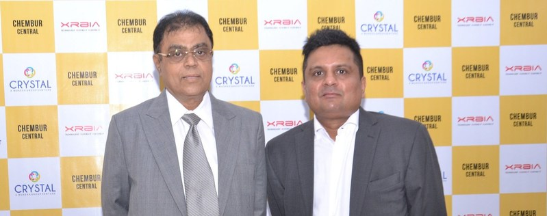 Mr. Mukesh Doshi & Mr. Rahul Nahar - Press Conference (PRNewsfoto/Crystal Group & Xrbia Developers)
