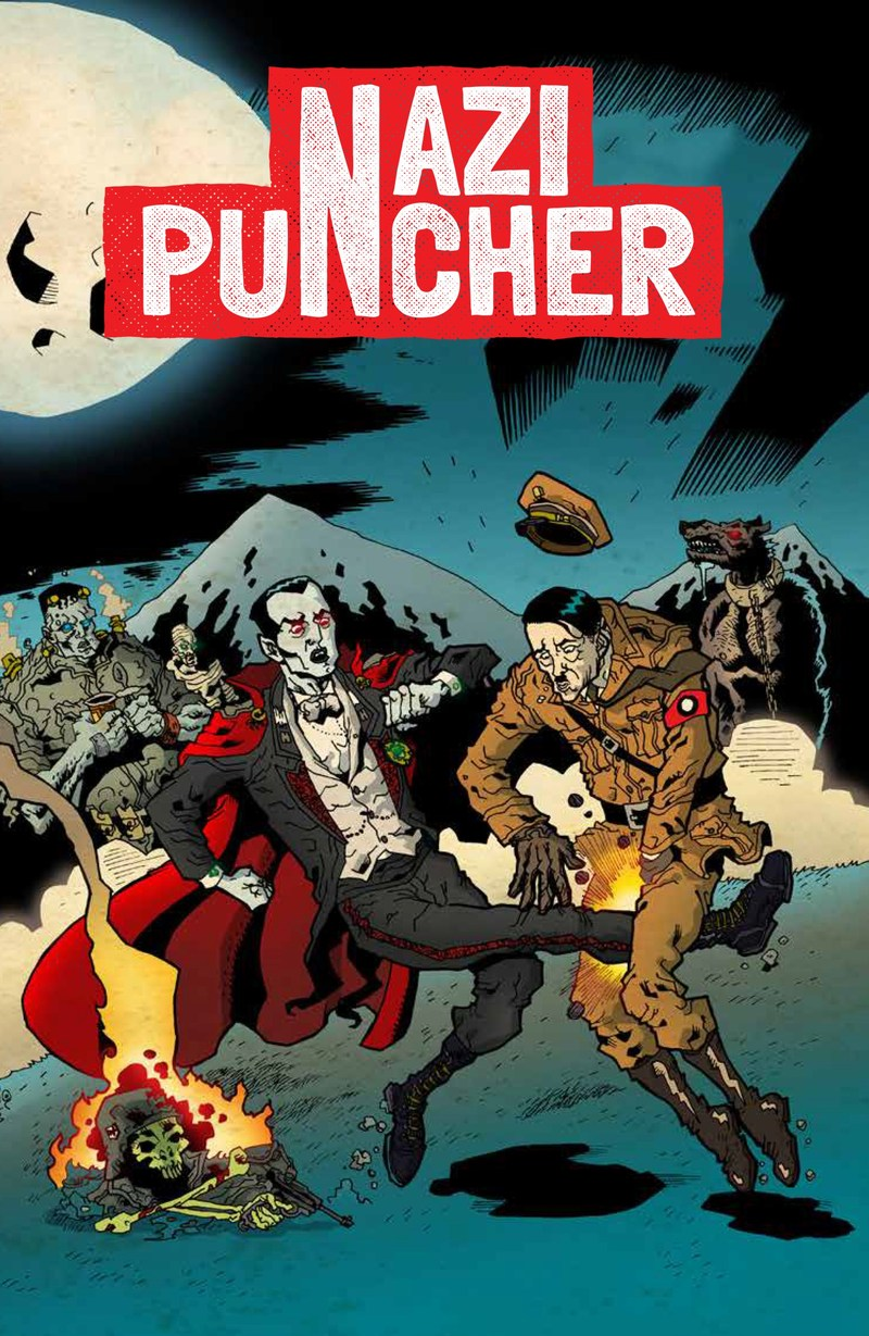 One of the Covers to Nazi Puncher by Jok of https://studiohaus.info/