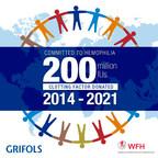 Grifols Donates 140 Million International Units of Blood Clotting Factors to the World Federation of Hemophilia Humanitarian Aid Program