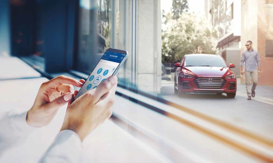 Remote door lock, Remote Start with Climate Control and the Monthly Vehicle Health Report are among the Blue Link services Hyundai Motor America will make standard via smartphone, smartwatch and Amazon Alexa for three years.