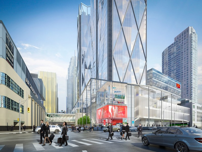 CIBC's new urban campus features two 49-storey buildings and is located across from the Air Canada Centre and Union Station, Toronto's transit hub. (CNW Group/Canadian Imperial Bank of Commerce)