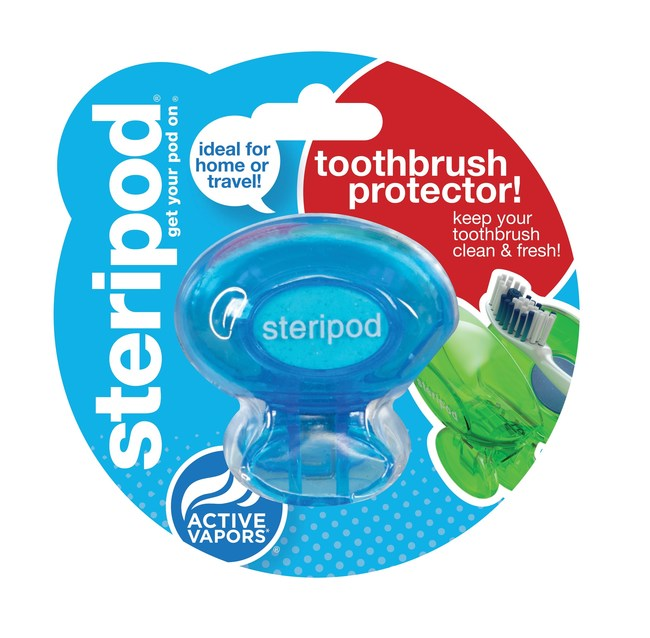 The new Steripod singles-pack toothbrush protector is ideal for travel and is currently available in the travel and trial-size section at Target stores nationwide and online at Amazon and GetSteripod.com for a suggested retail price of $3.99.